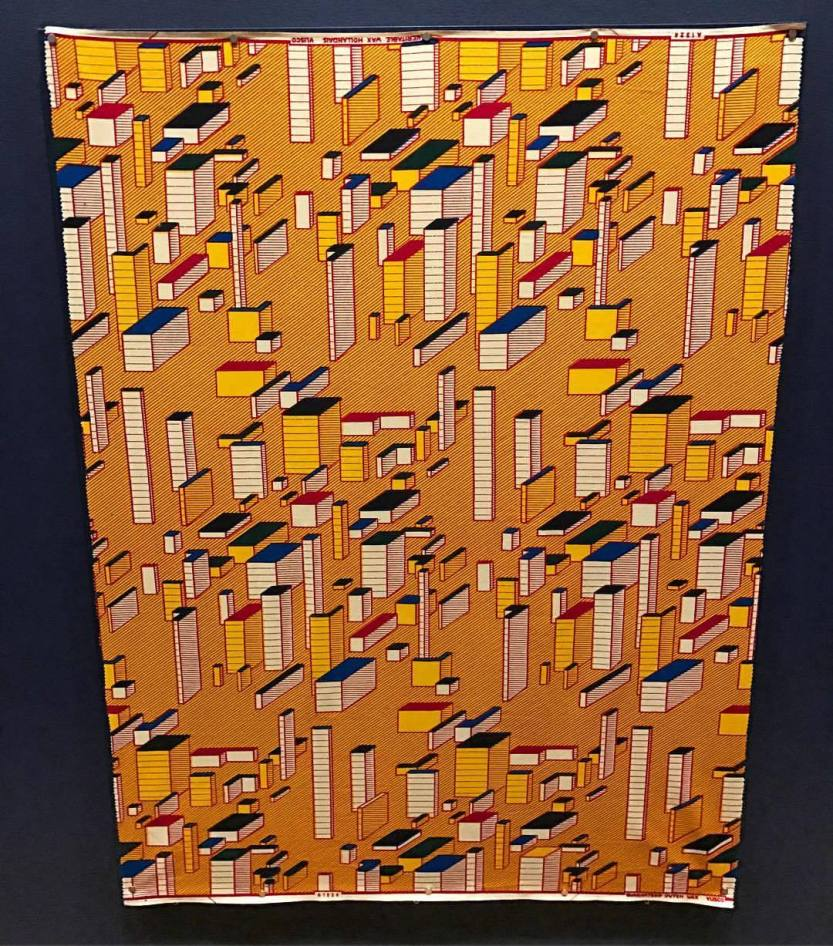 """bhsutton: """"One of the amazing Dutch wax print designs (this one by Tomi Oladipo, from 2010) in the dazzling Vlisco exhibition at the @philamuseum. (at Philadelphia Museum of Art) """""""