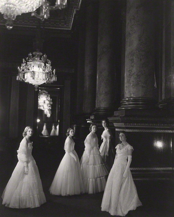 "theimperialcourt: ""Maids of Honour at the Coronation of Queen Elizabeth II by Cecil Beaton, Buckingham Palace, 1953 """