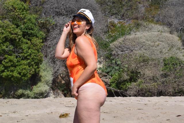 forever21 plus orange bodysuit