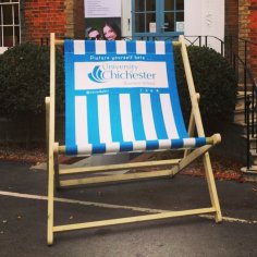 Giant Deckchair and Printed Sling