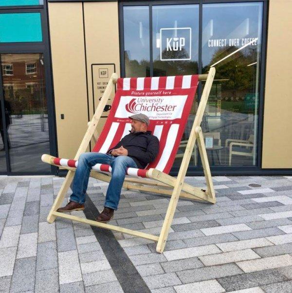Chichester University Giant Deckchair