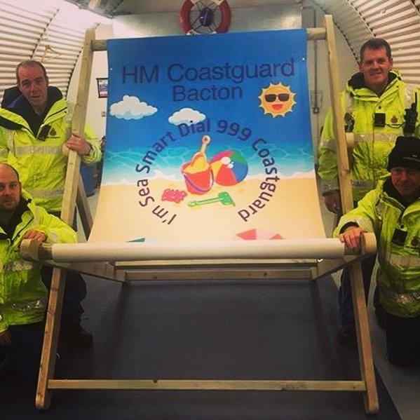 HM Coastguard Giant Deckchair
