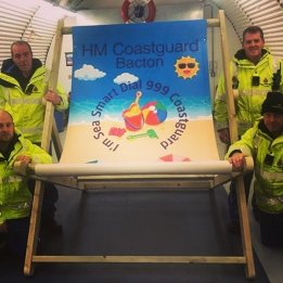 HM Coastguard Giant Deckchair