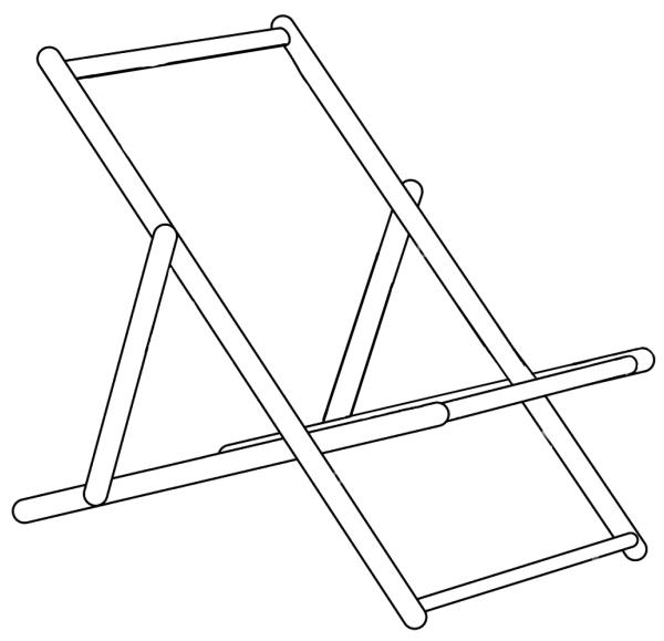 Riesen-Deckstuhl Rahmen
