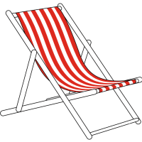 Giant Deckchair and Pre Designed Striped Sling (Complete)
