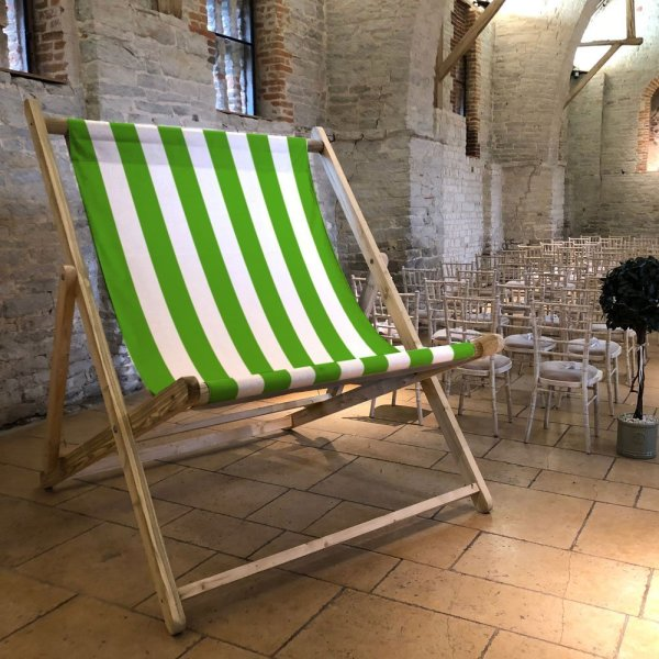 Green Striped Giant Deckchair