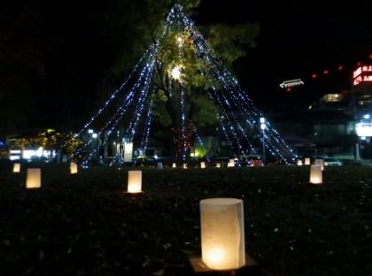 戸倉上山田温泉忘年会クリスマスイルミネーション