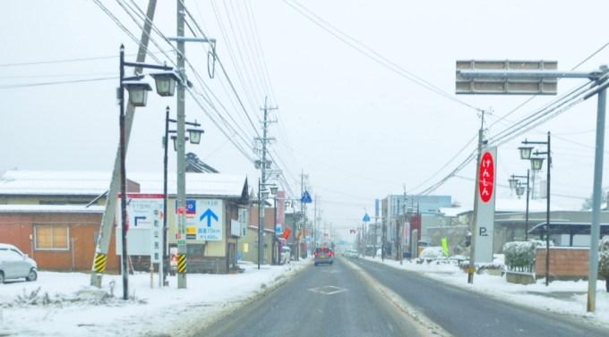 戸倉上山田温泉国道18号戸倉駅積雪道路