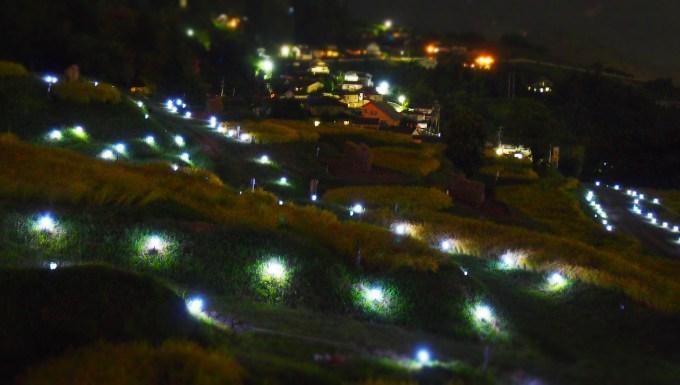 千曲市おばすて観月祭田毎の月善光寺平夜景