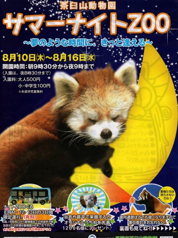 夏休み長野市茶臼山動物園 サマーナイトZOO in茶臼山