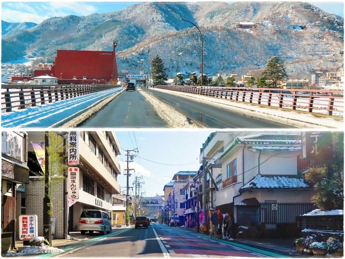 長野県千曲市戸倉上山田温泉年末年始雪道積雪道路状況