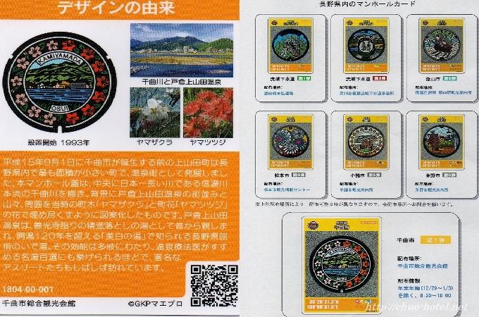 長野県千曲市マンホールカード