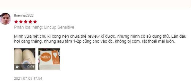 review cốc nguyệt san lincup