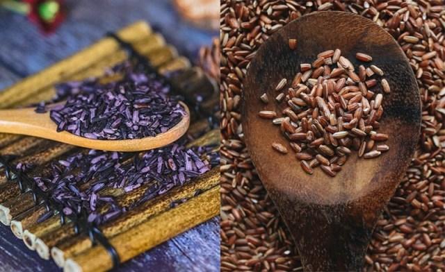 Gạo tím than và gạo lứt