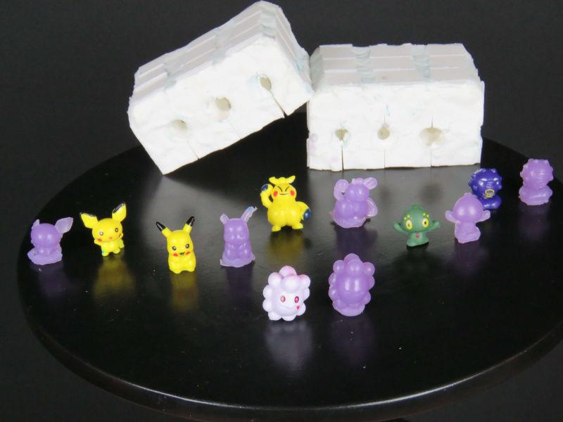 jabones de pokemon y molde de silicona