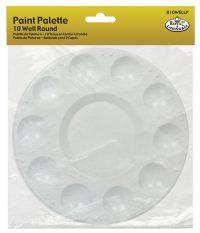 paleta redonda de pinturas de plastico