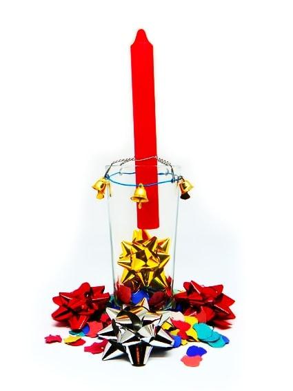 portavelas reciclado para navidad