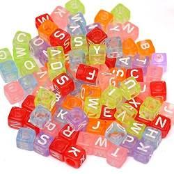 cuentas con letras del abecedario para hacer bisuteria