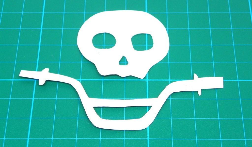 ¿Cómo estampar una bandera pirata para la bicicleta?: Manualidad relámpago