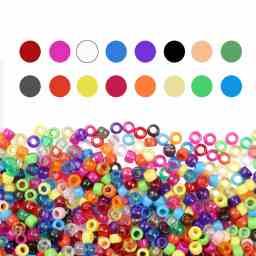 abalorios de colores para hacer pulseras