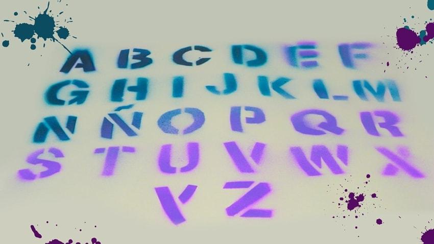 plantilla stencil del abecedario