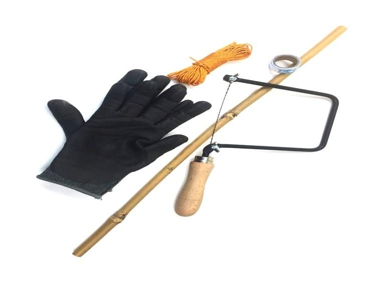 materiales para hacer baston de senderismo