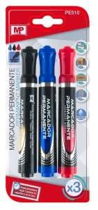 marcadores de tres colores