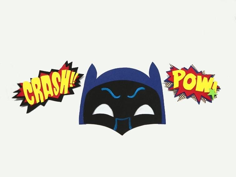 ¿Cómo hacer la máscara de Batman y onomatopeya POW con goma eva?