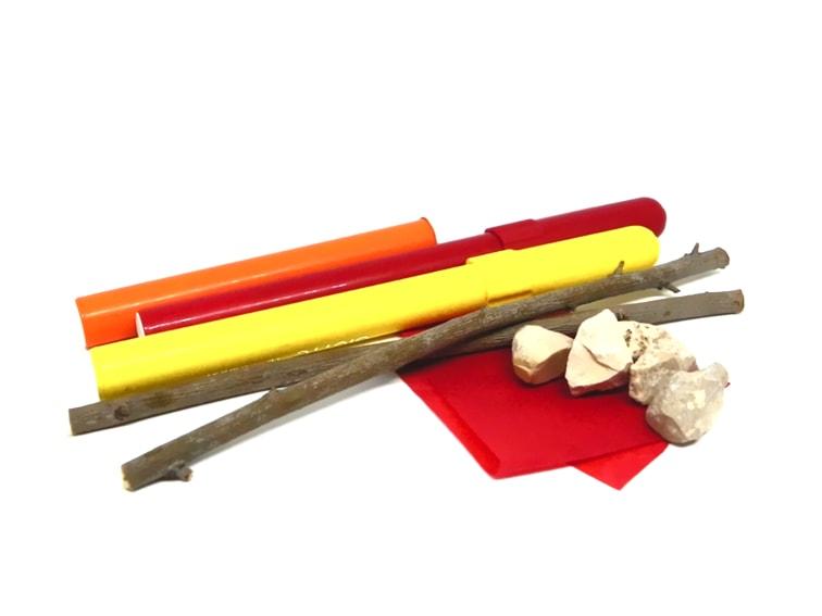 materiales para hacer hoguera en miniatura