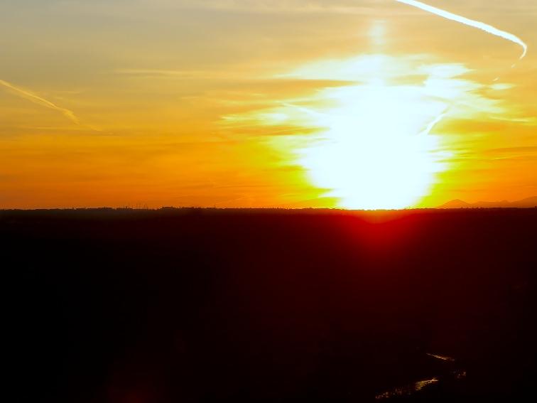 monte de el pardo puesta de sol