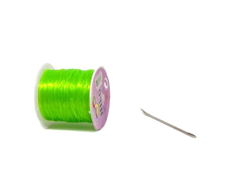 cordon elastico para hacer pulseras y aguja