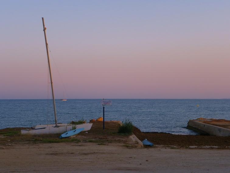 antigua zona del varadero para reparar embarcaciones en santa pola