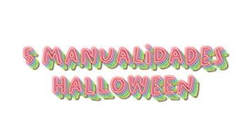 5 manualidades para halloween