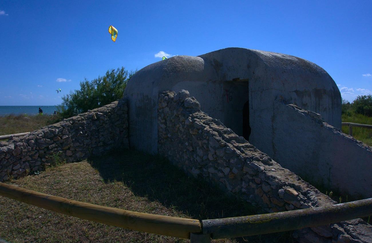 nido de ametralladoras situado en la zona oeste de santa pola