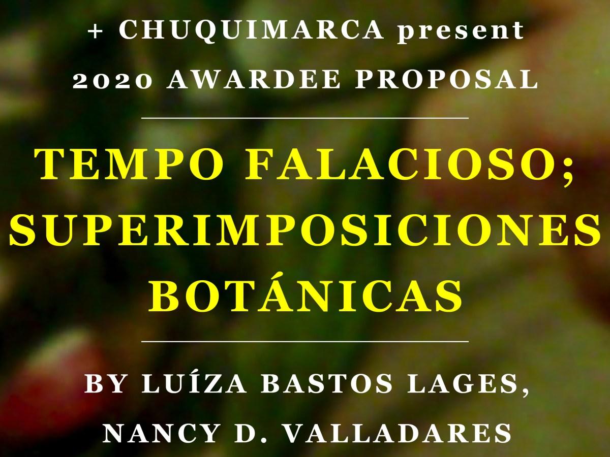 Flyer for Tempo Falacioso; Superimposiciones Botánicas event