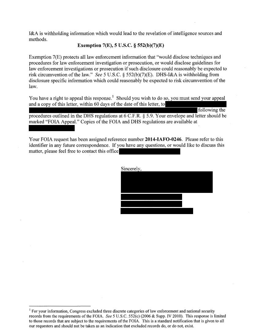 FOIA Request - Pursuit Lead Cable