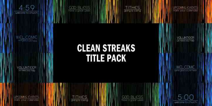 Clean Streaks Title Pack Preview