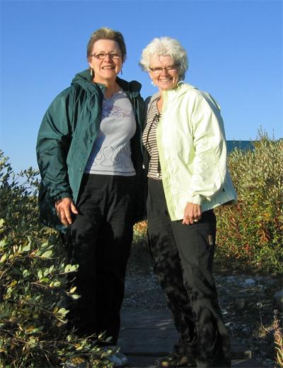 Blueberries & Polar Bears authors Marie Woolsey (left) and Helen Webber.