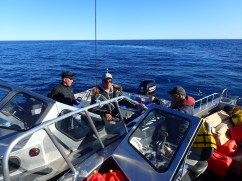 Crew makes a plan before heading on to Hudson Bay.
