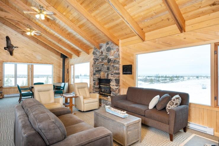 Lounge at Dymond Lake Ecolodge.