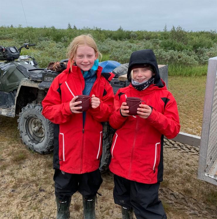 Young polar bear trackers at Nanuk Polar Bear Lodge
