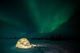 1st Place - Landscapes - Churchill Wild 2019 Guest Photo Contest - Christoph Jansen - Den Emergence Quest - Nanuk Polar Bear Lodge