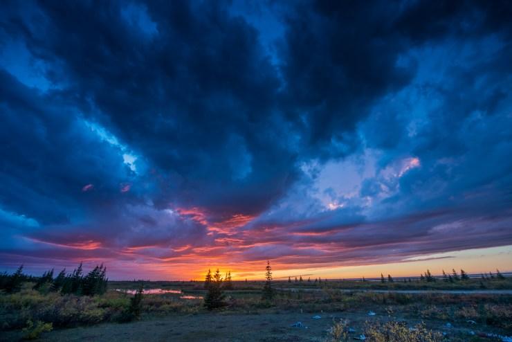 Stormy skies over Nanuk. Jad Davenport photo.
