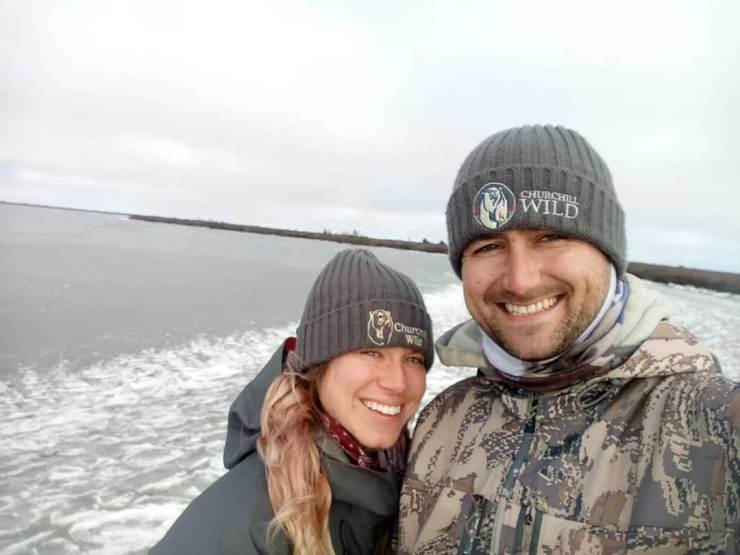 Ben Lawrence and Nicole Spinks at Seal River Heritage Lodge this fall.
