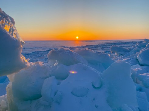 Magical morning during our Journey to the Floe Edge