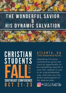 christian students fall 2016 conference