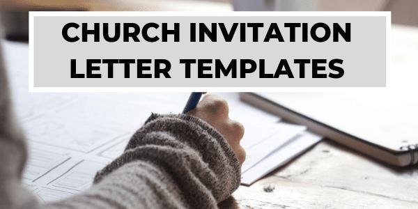 church invitation letters invitation