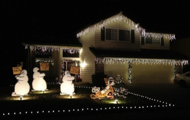 calvin and hobbes christmas yard decorations