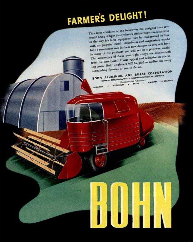 18 Artful Futuristic Machine Illustrations From 1940