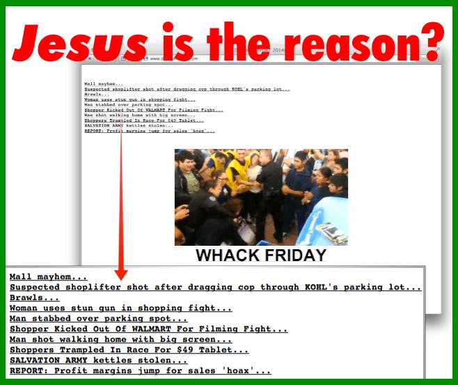Jesus is the reason - Black Friday
